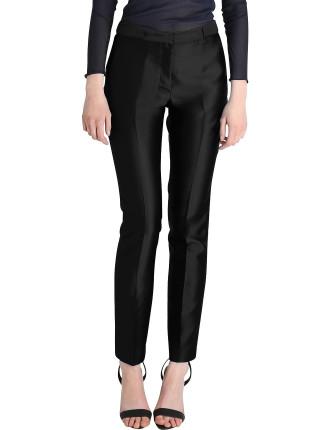 Black Silk Dupion Tendue Pant