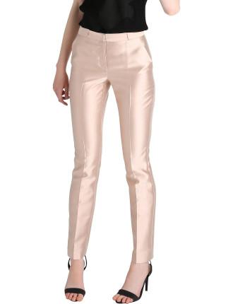 Blush Silk Dupion Tendue Pant