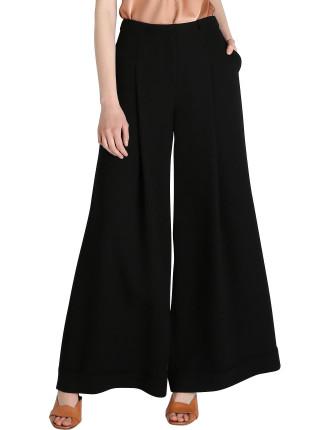 Black Crepe Allonge Pant