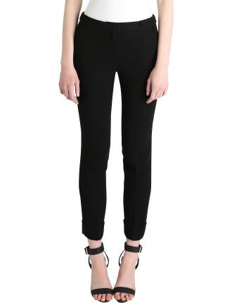 Black Cotton Silk Svelte Pant