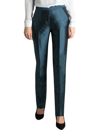 Teal Twill Suiting Tendue Pant