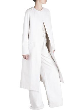 White Denim Coat