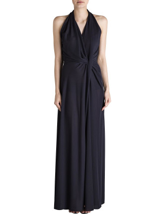 Midnight Jersey Entwined Long Dress