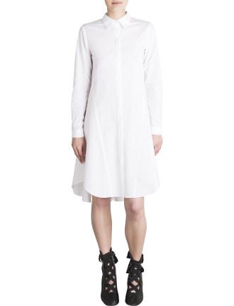 White Cotton Lewis Shirt Dress
