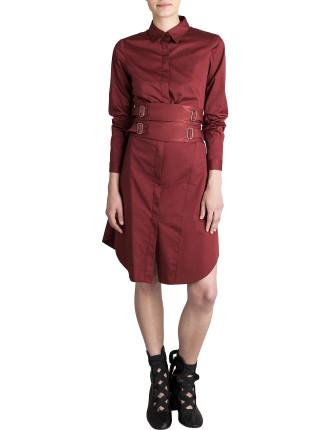 Rust Cotton Lewis Shirt Dress