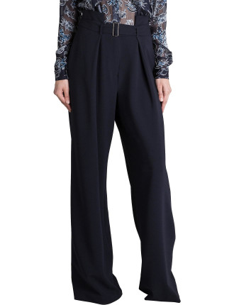 Ink Crepe Oxford Pant