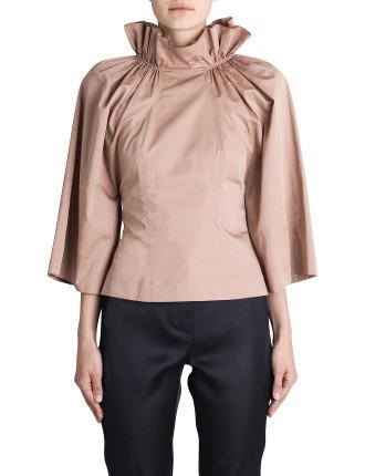 Blush Polished Cotton Elizabeth Shirt