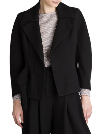 Black Crepe Corsetiere Jacket