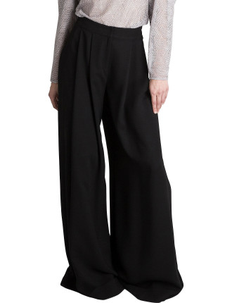 Black Crepe Languid Pant