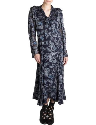 Abyss Silk Devore Nightingale Dress