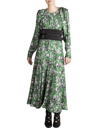 Forest Mist Silk Bloomsbury Dress