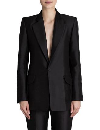 Black Cotton Silk Duke Jacket