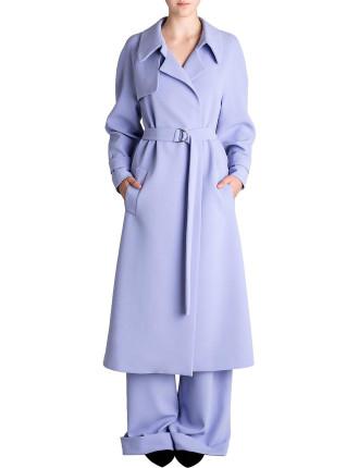 Lavender Crepe Promenade Coat