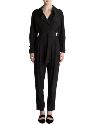 Black Silk Cdc Gallivant Jumpsuit