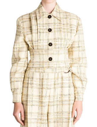 YELLOW CHECK MODERNISM JACKET