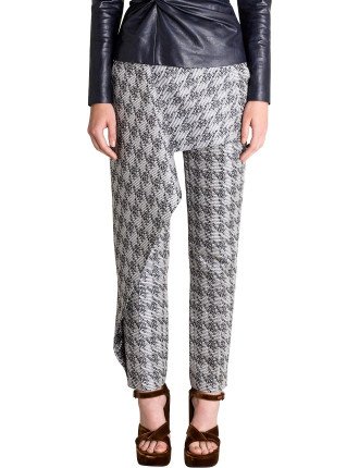 HOUNDSTOOTH BROCADE WEST END PANT