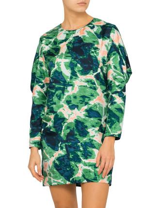 Water Print Silk Sovereign Dress