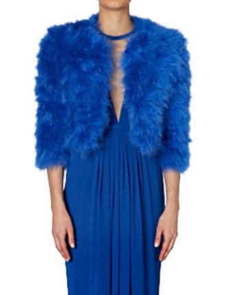 Royal Blue Feather Jacket