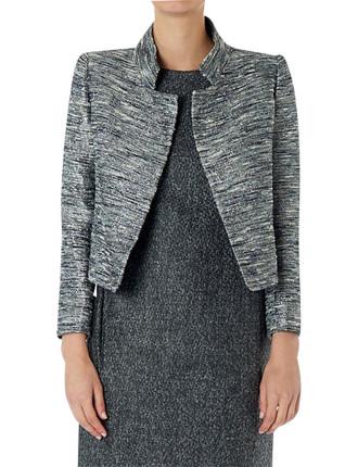 Platinum Tweed 5th Avenue Crop Jacket