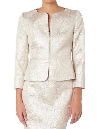 Incandescent Brocade Hollywood Jacket