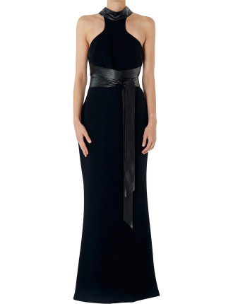 Ebony Crepe Bound To Win Gown