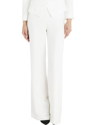 White Crepe Fluid Pant