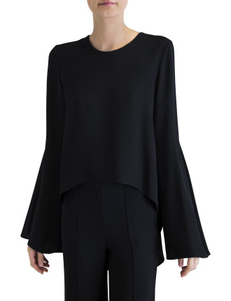 Black Crepe Belezza Top