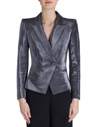 Silver Glitter Precious Metal Jacket