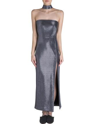 Silver Glitter Precious Metal Gown