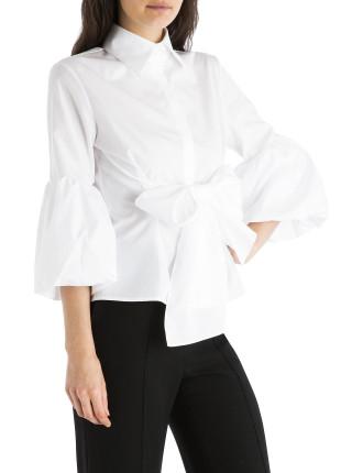 White Cotton Wrap Me Up Shirt