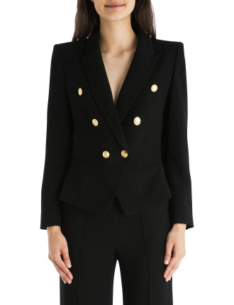 Black Crepe Camille Jacket