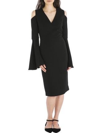 Black Crepe Isabella Dress
