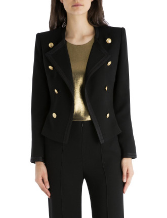 Black Crepe Admiral Jacket
