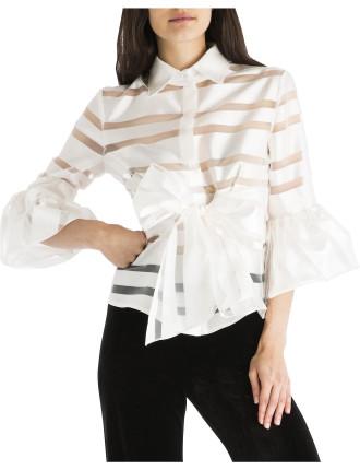 White Stripe Wrap Me Up Shirt