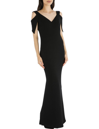 Black Crepe Mia Gown