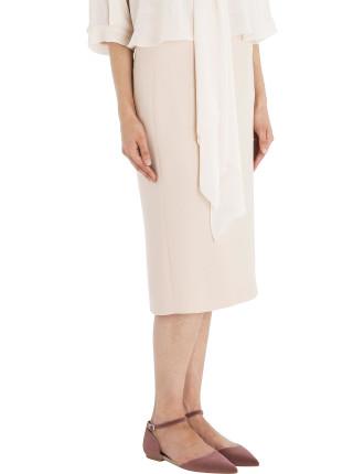 Blush Crepe Longer And Leaner Skirt