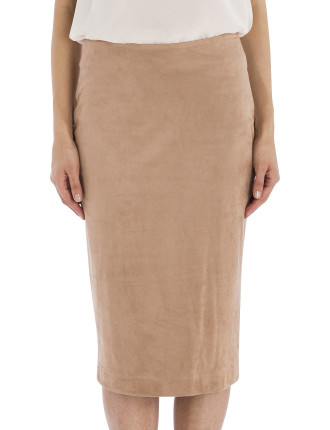 Rose Faux Suede Sloane St Skirt