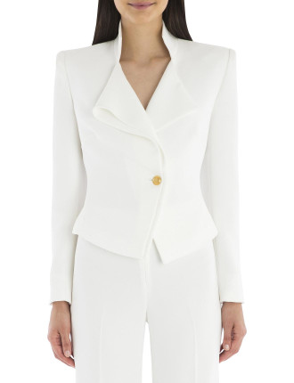 White Crepe Via Condotti Jacket
