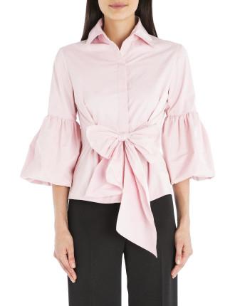 Pink Taffeta Wrap Me Up Shirt