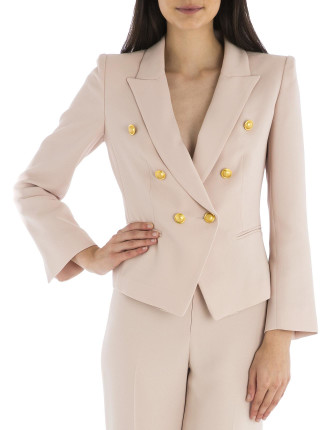 Blush Crepe Camille Jacket