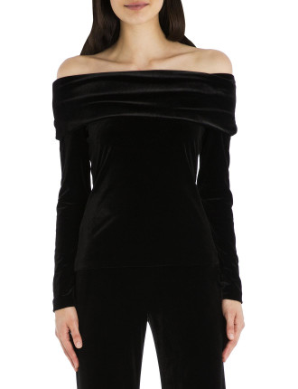 Black Velvet Lady Of The Manor Top