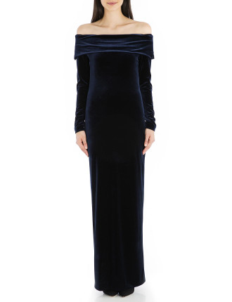 Navy Velvet Lady Of The Manor Gown