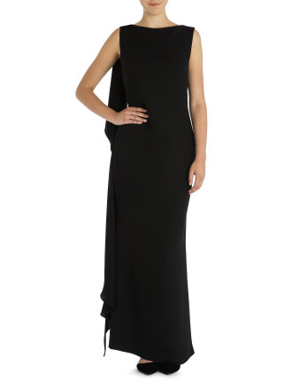 Onyx Crepe Harlow Gown