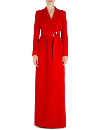 FLAME CREPE VALENTINA MAXI TRENCH