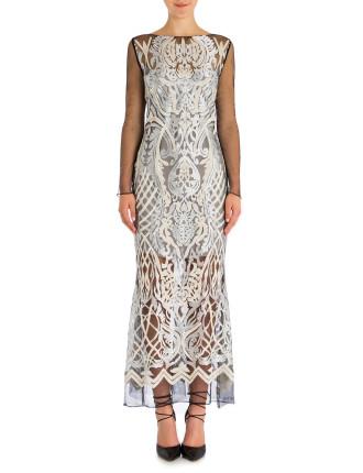 Platinum Paillette Belle Gown