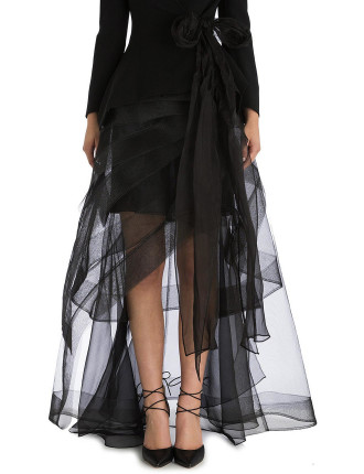 Onyx Crinoline Net Skirt