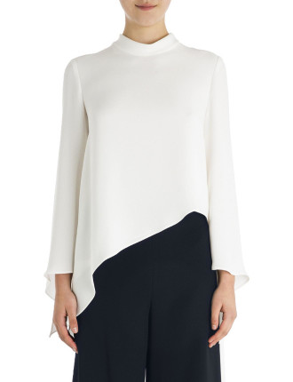 Alabaster Crepe Perfect Angle Top