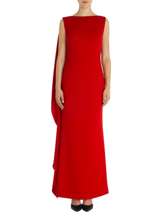 Flame Crepe Harlow Gown