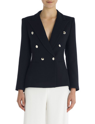 Lapis Crepe Windsor Jacket