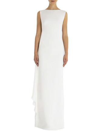 Alabaster Crepe Harlow Gown